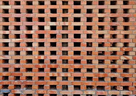 Architectural elements of the wall. Original brick wall, Background, texture.