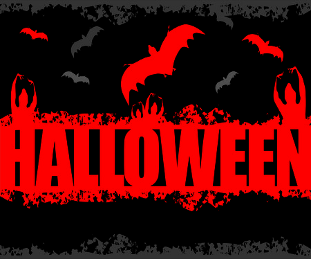 Halloween Scene Illustration