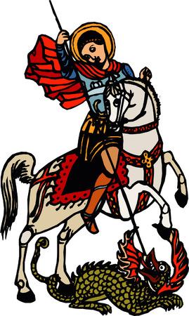 stained: Georgiy Pobedonosets ancient Illustration