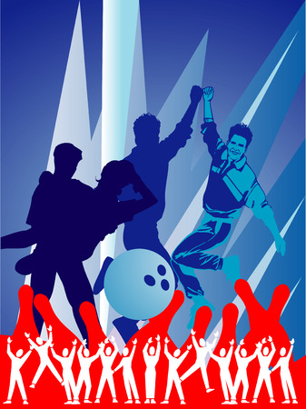 alley: bowling vector