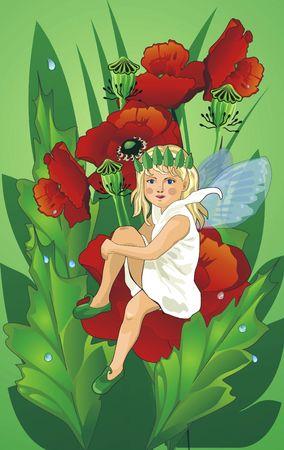 elf on flower