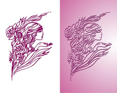 women, symbol, vector picture, illustration  Vector