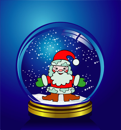 reflexion: Santa Claus, New Year Grandfather Illustration