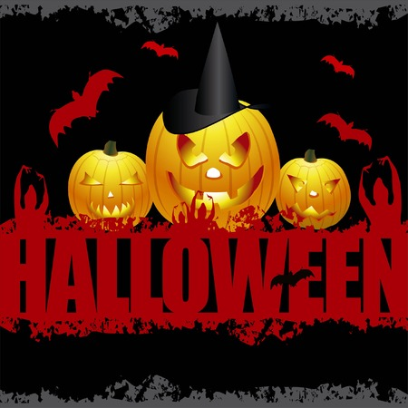 Halloween Scene Stock Vector - 5648795