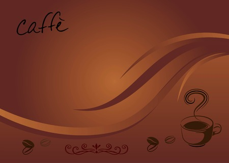 caffe background Vector