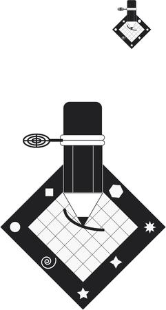 Logo pencil Illustration
