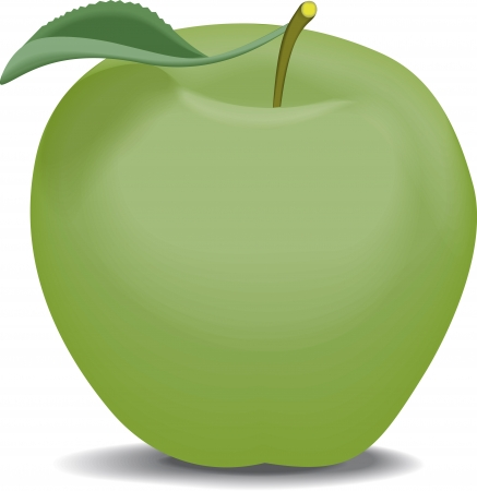 granny smith apple: green apple Illustration