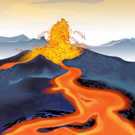 volcano mountain erupting: Volcano