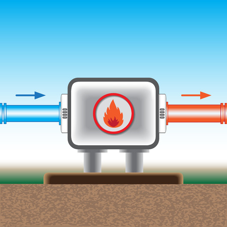 Heating up of water  Vector