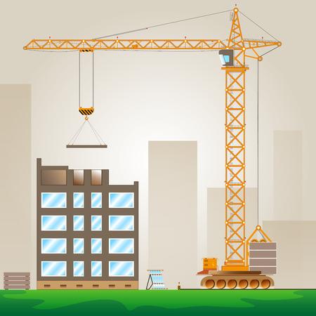 building material: Tower Crane