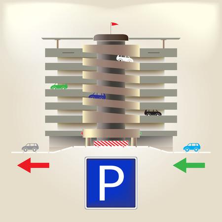 building lot: Parking Illustration