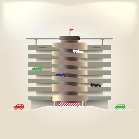 multilevel: Parking Illustration