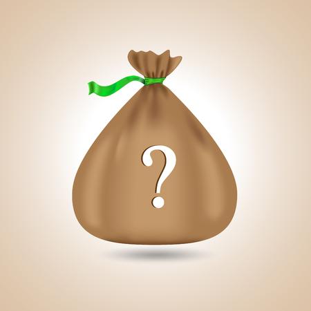 poke': Brown bag. Vector illustration