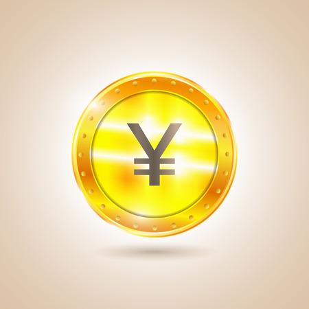 nasdaq: Money - Coin yen. Vector illustration