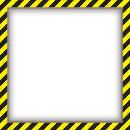 signboard form: Abstract geometric square frame, with diagonal black and yellow. Vector illustration