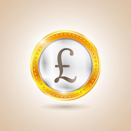 frankfurt stock exchange: Money - Coin pounds. Vector illustration
