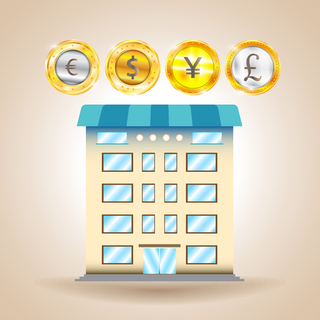 frankfurt stock exchange: Currency. Finance. Economy. Vector illustration Illustration