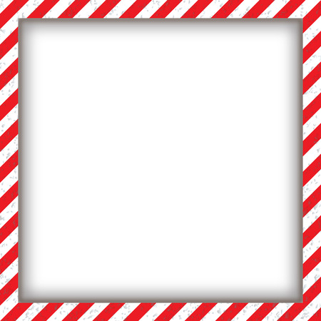 Abstract geometric square frame, with diagonal red and white. Vector illustration Illustration