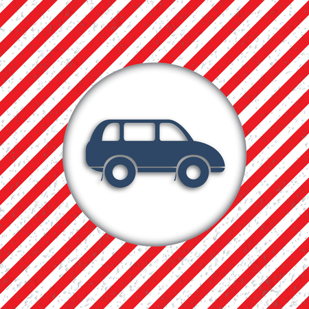 reiteration: Abstract diagonal red and white stripes. The movement dangerous. Hazardous plot for of cars. Vector illustration