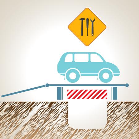 spare part: Car_maintenance. Vector illustration Illustration