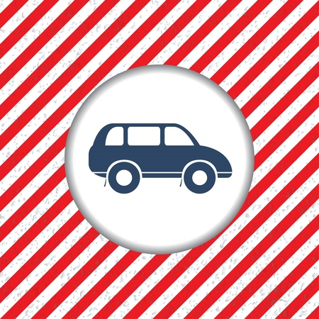 striped band: Abstract diagonal red and white stripes. The movement dangerous. Hazardous plot for of cars.