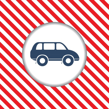 reiteration: Abstract diagonal red and white stripes. The movement dangerous. Hazardous plot for of cars.