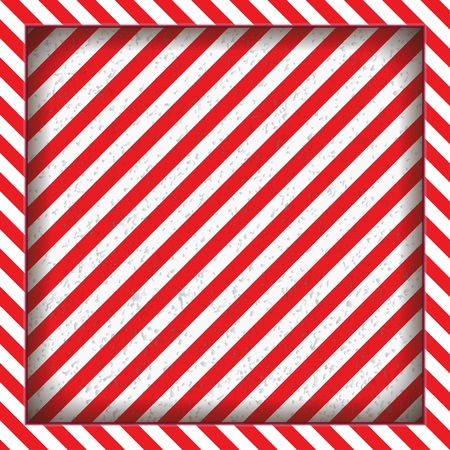 Abstract geometric lines with diagonal black and red stripes. The square frame.