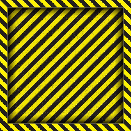 Abstract geometric lines with diagonal black and yellow stripes. The square frame.