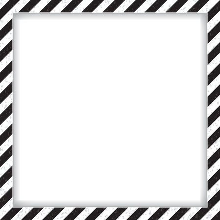 Abstract geometric square frame, with diagonal black and white. Stock Photo