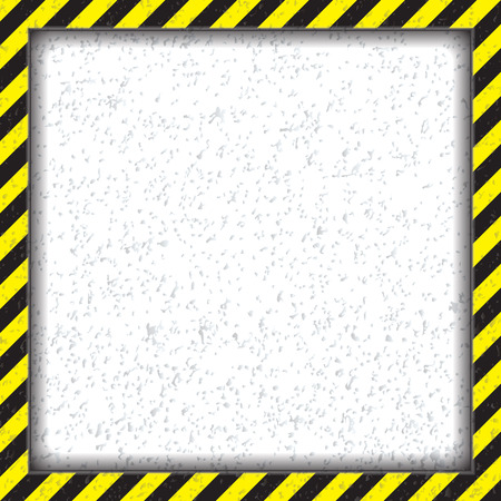 Abstract geometric square frame, with diagonal black and yellow.