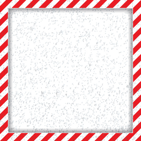 Abstract geometric square frame, with diagonal red and white.