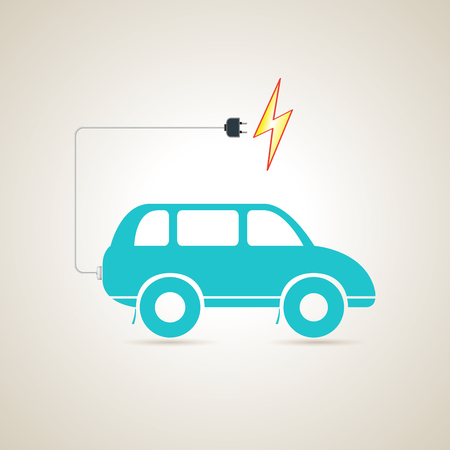discharge: Electric car charger battery. Stock Photo
