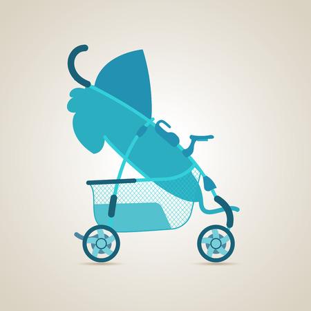 pram: Pram. Baby transport. Illustration Stock Photo