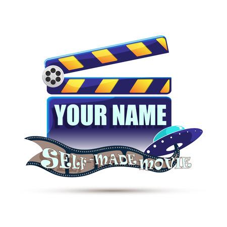 self made: Self made movie. Illustration Stock Photo