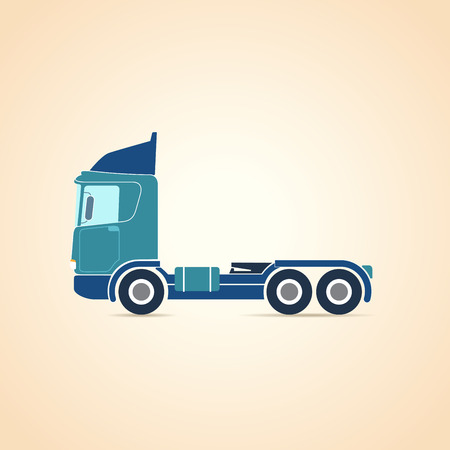 chassis: Autotransporter. Three-axle tractor. Truck. Chassis. illustration