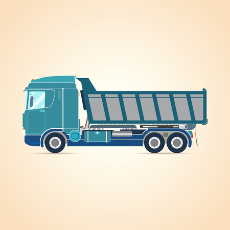Tipper. Truck. illustration.