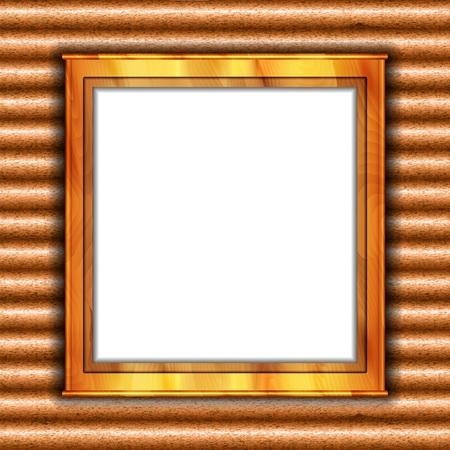 casement: Wooden frame. Window. illustration Illustration