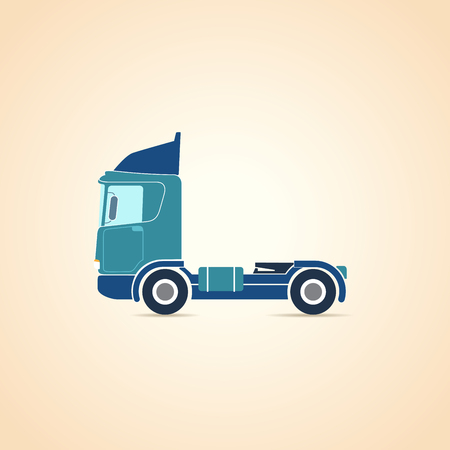 chassis: Autotransporter. Truck. Chassis. Illustration