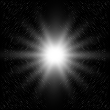 Astrazione. Sfondo nero astratto. Abisso dello spazio. Stella del galattico. Illustrazione vettoriale. Vettoriali