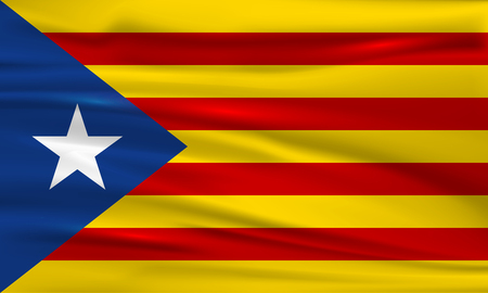 Catalan nationalist flag. Flag of Catalonia. Vector illustration Illustration