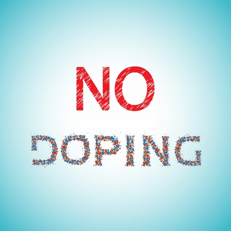 No doping, banned drugs, illustration Stock Illustration - 86893229
