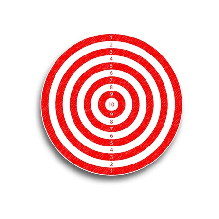 The target is 10 points, red, illustration