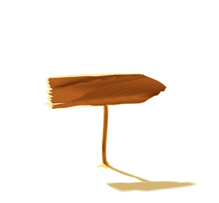 wooden post: Wooden pointer isolated