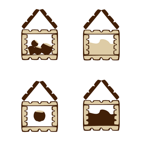 Chocolate icon, 4 kinds. Editable Vector Illustration