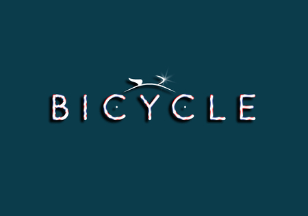 Icon of the bicycle. Bicycle rental illustration