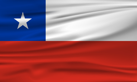 Vector flag of Chile. Vector illustration