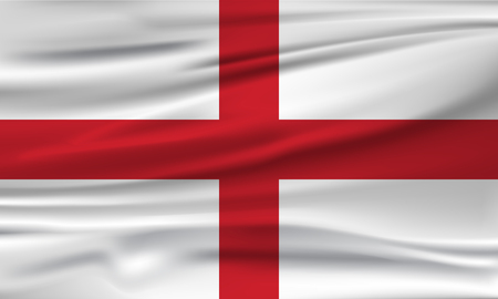 Vector flag of England. Vector illustration