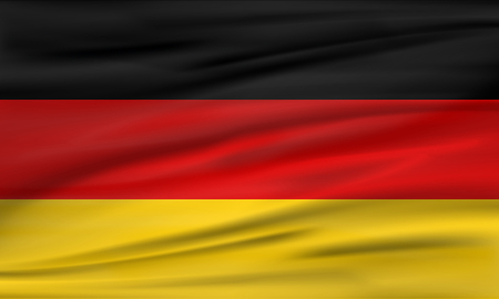 Vector flag of Germany. Vector illustration
