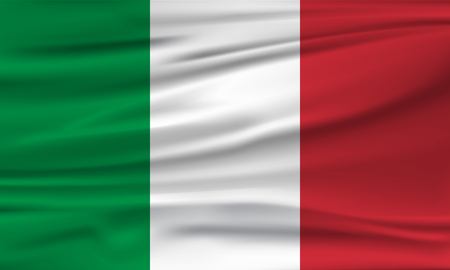Vector flag of Italy. Vector illustration