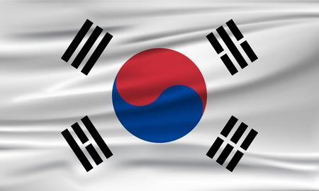 Vector flag of South Korea. Vector illustration